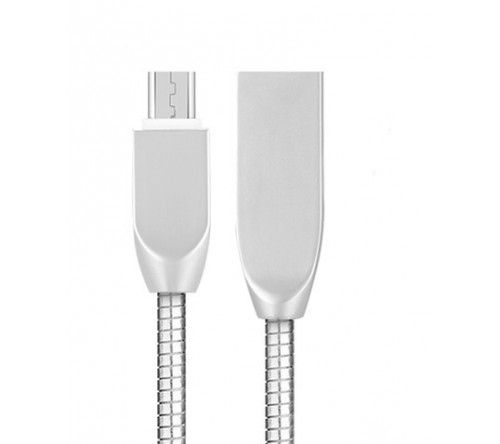 Micro USB КАБЕЛЬ МЕТАЛЛИЧЕСКИЙ 1М - фото 1