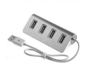 АДАПТЕР Aluminium 4 PORT USB HUB 4301