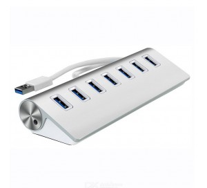 АДАПТЕР Aluminium 7 PORT USB HUB 7301